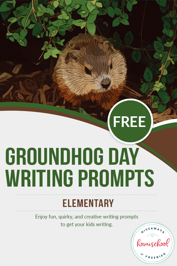 Free Groundhog Day Homeschool Curriculum Writing Prompts