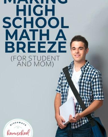 high school boy with over the shoulder school bag