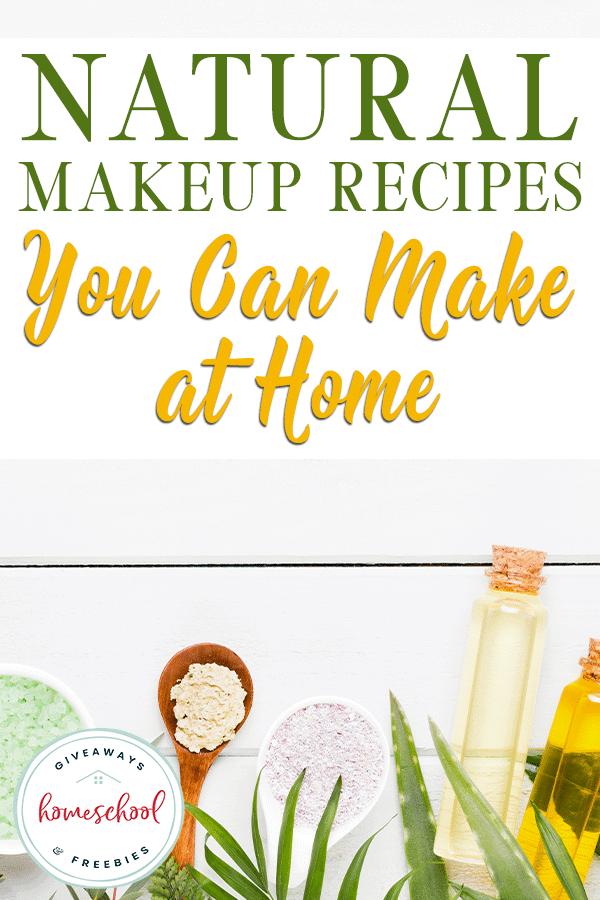 natural makeup ingredients and salt scrubs on wooden background