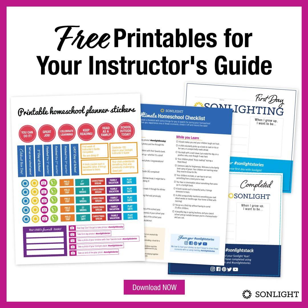 free homeschool planner printables