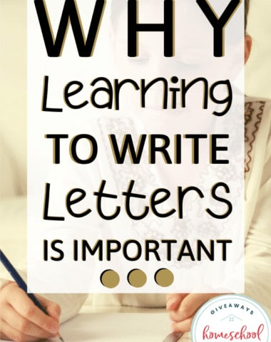 Why Learning to Write Letters is Important.