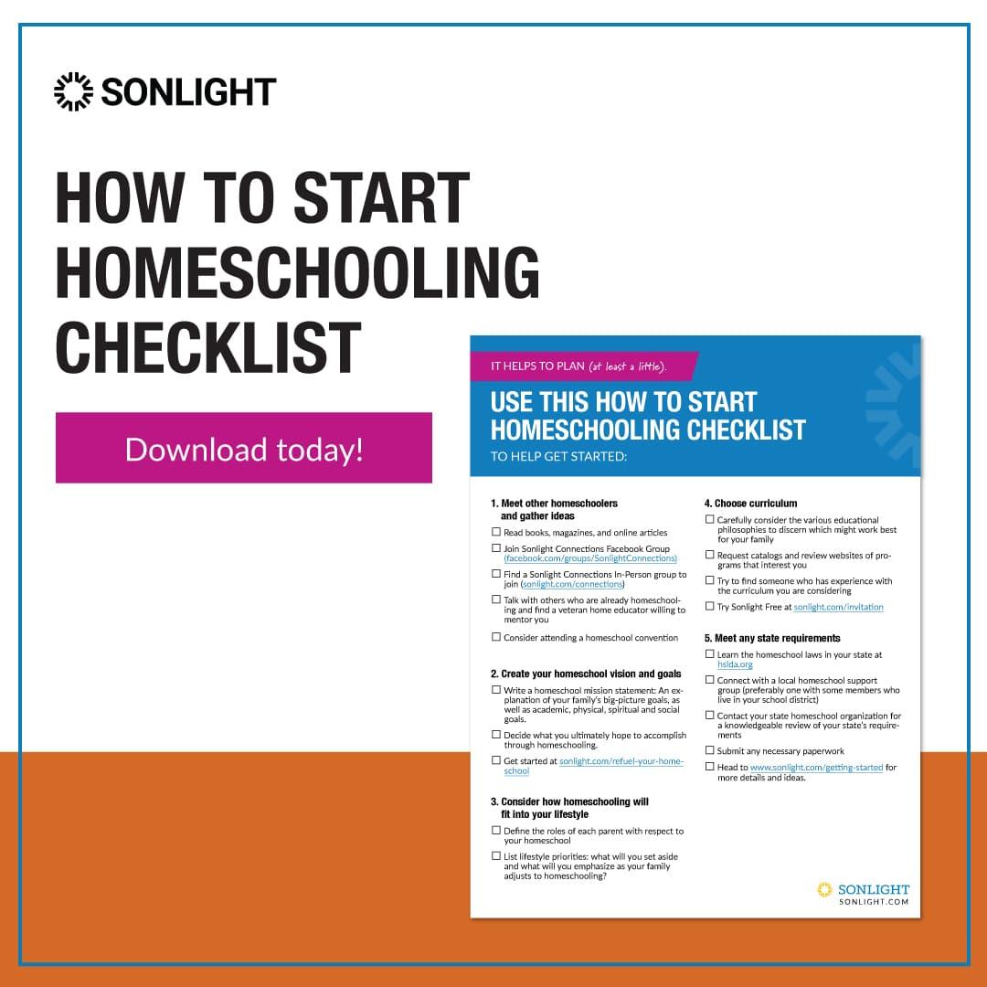 How to Start Homeschooling Checklist