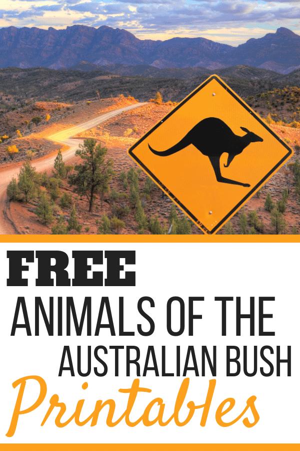 free Australian bush animals printables