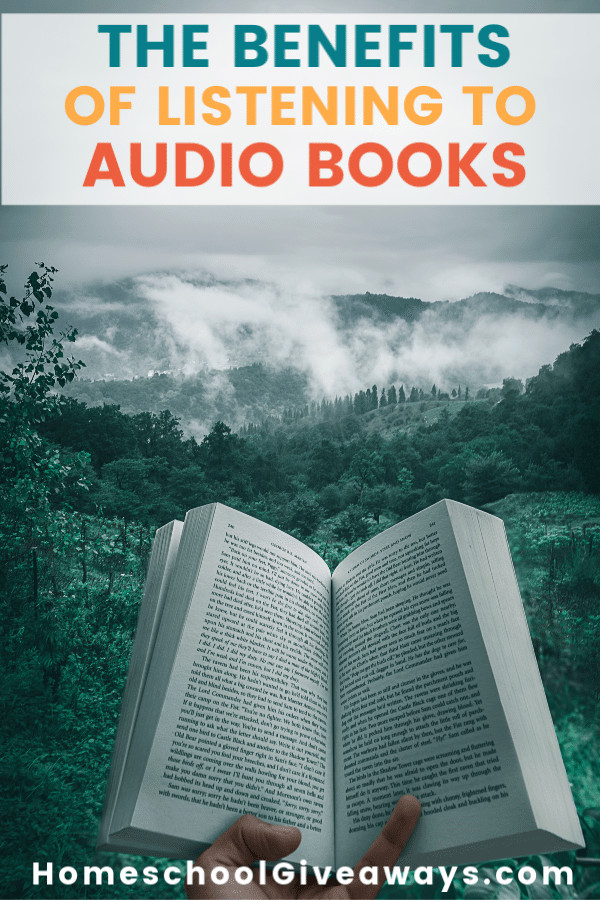 open book graphic about listening to audio books