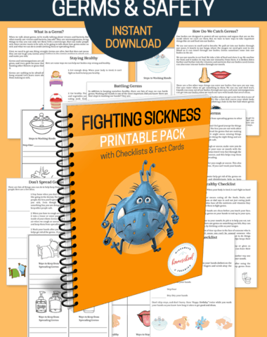 Worksheets and spiral book on germs