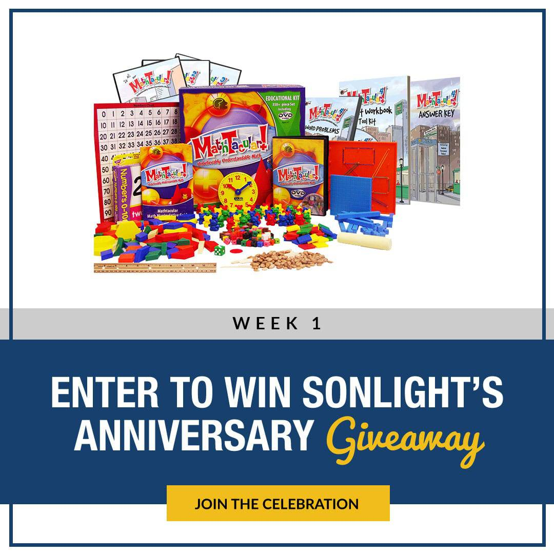 Sonlight Anniversary Giveaway