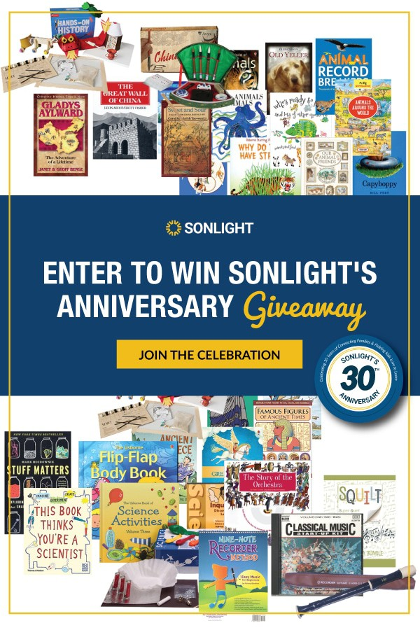 Enter to Win Sonlight's Anniversary Giveaways