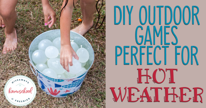 bucket of water balloons with overlay - DIY Outdoor Games Perfect for Hot Weather