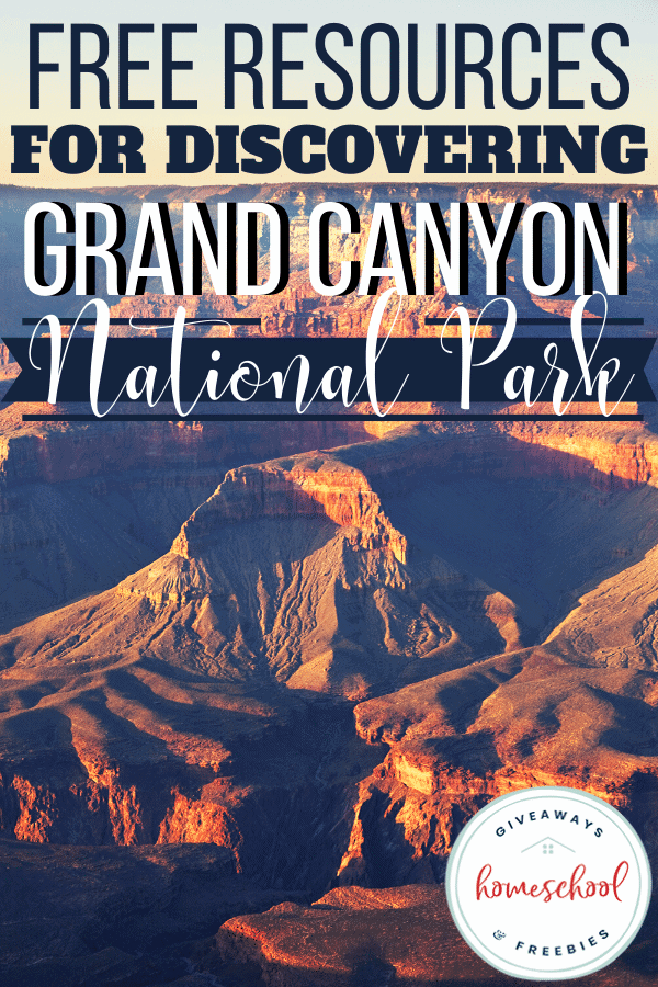 free resources for discovering grand canyon national park with photo of grand canyon.