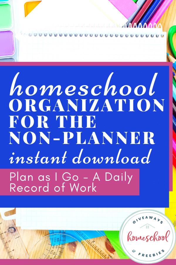 free homeschool organization download