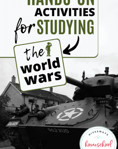 Hands-On Activities for Studying the World Wars. #studyworldwars #worldwars #wararoundtheworld #hands-on activities