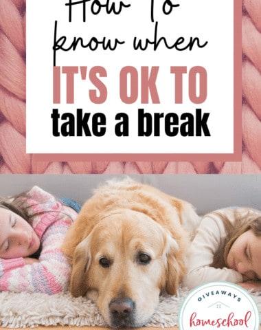 How to Know When It's OK to Take a Break. #momneedsbreak #OKtotakeabreak #momoverwhelm