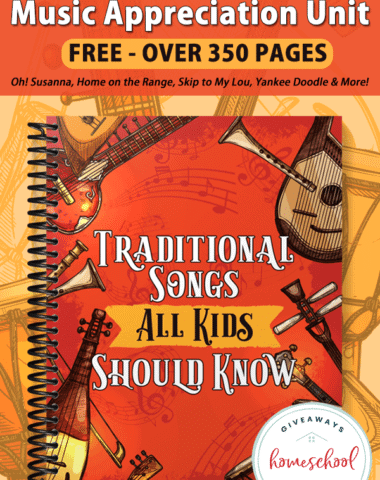 Spiral Notebook of TRaditional Songs Unit for Kids