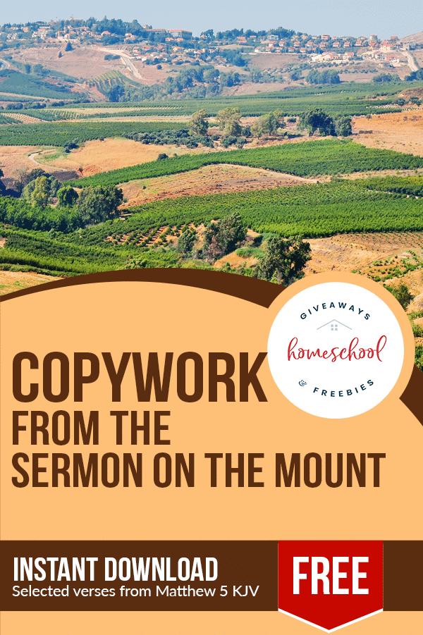 free Sermon on the Mount homeschool curriculum