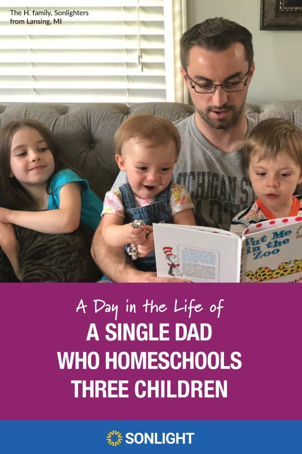 A Day in the Life of a Single Dad Who Homeschools 3 Children