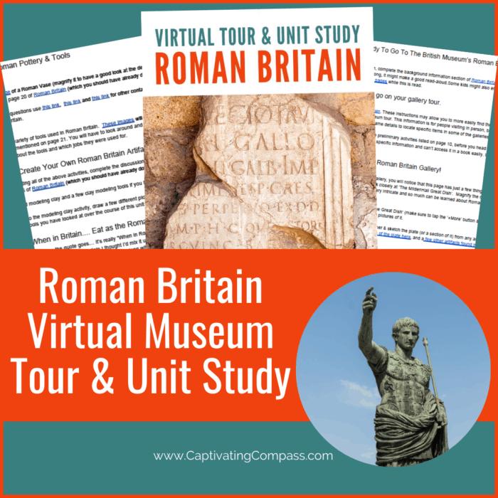 image of Roman Britain Virtaul Museum Unit Study at www.HomeschoolGiveaways.com