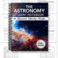 spiral science notebook with worksheet pages