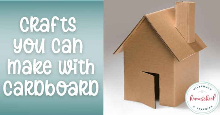 cardboard house craft with overlay - Crafts You Can Make with Cardboard