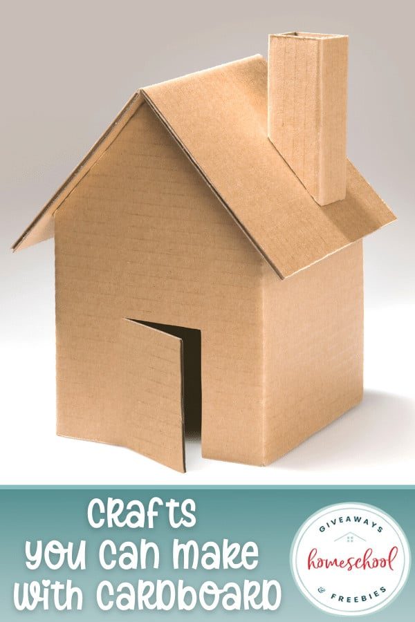 cardboard house with overlay - Crafts You Can Make With Cardboard