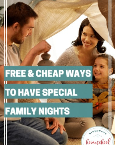 Free & Cheap Ways to Have Special Family Nights. #specialfamilynights #familynight #familybondingtime
