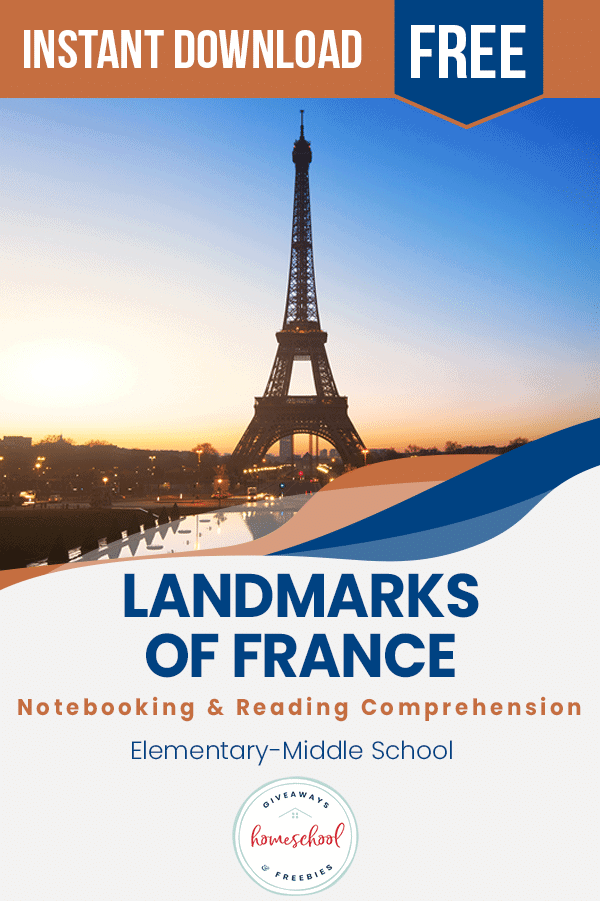 landmarks of France worksheets