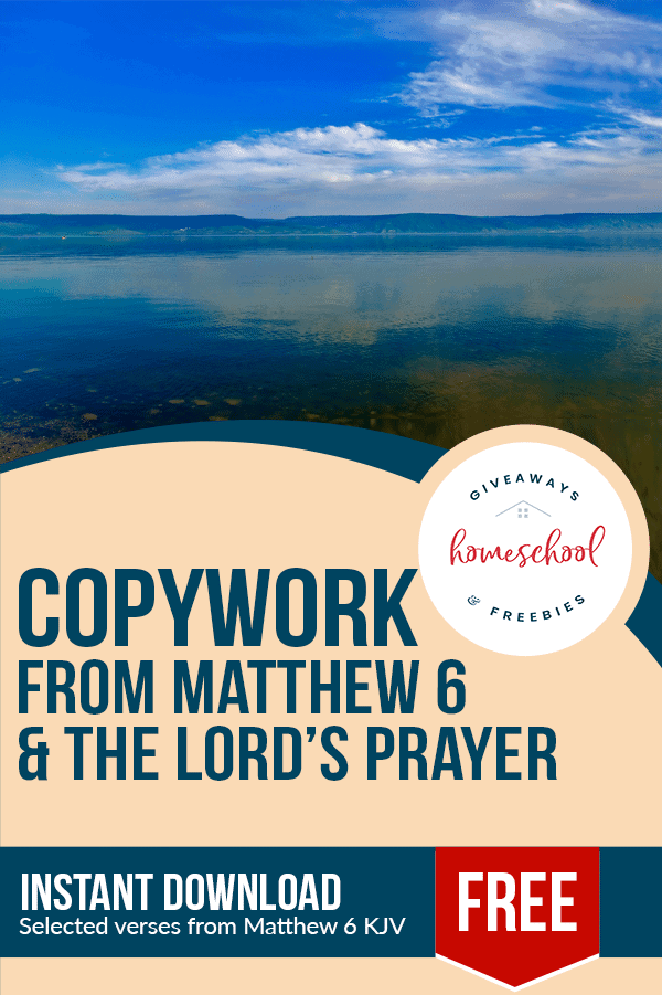 free Lord's Prayer homeschool curriculum