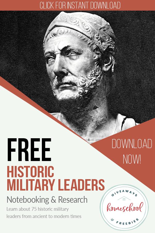free historic military leaders homeschool curriculum