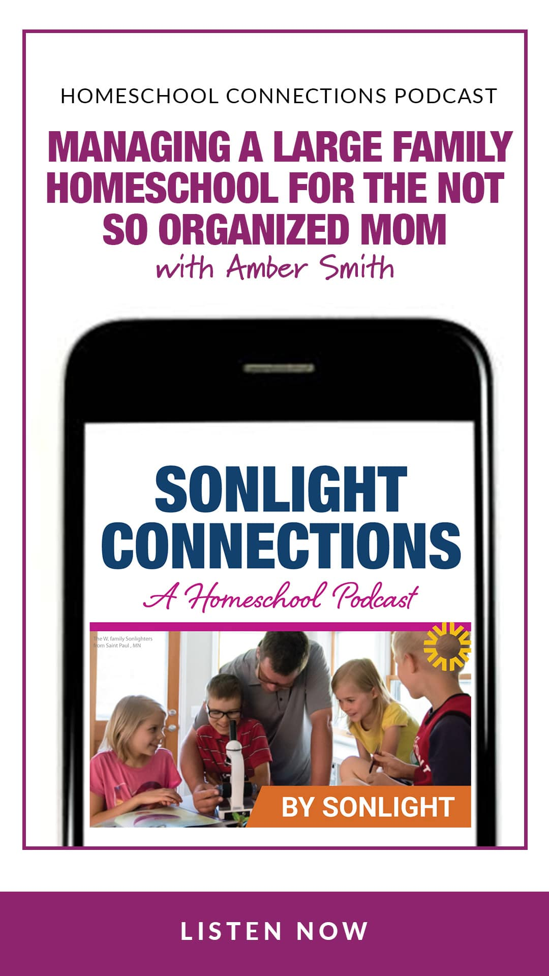 Managing a Large Family Homeschool for the Not So Organized Mom