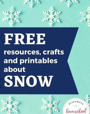 Free Resources, Crafts, and Printables About Snow #wintercrafts