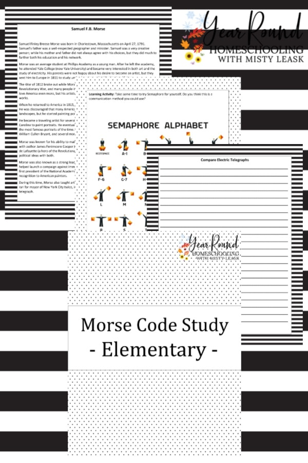 sample pages of Morse Code Study for Elementary