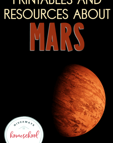 Mars the red planet with overlay - Printables and Resources About Mars