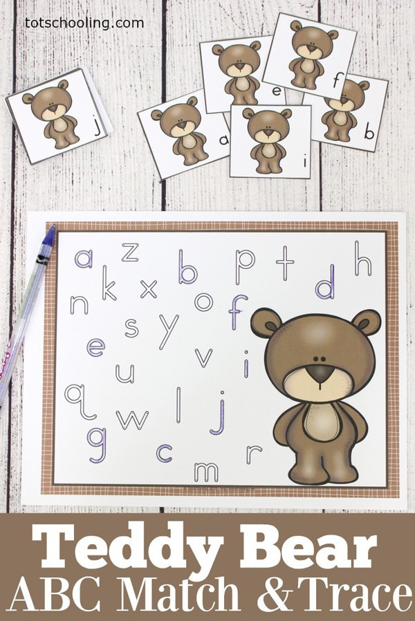 Samples of Teddy Bear ABC Match & Trace