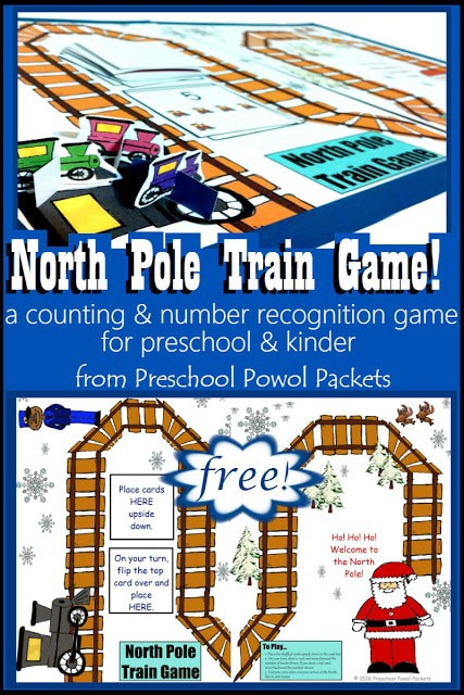 sample pages of North Pole Train Game