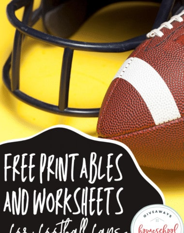Free Printables and Worksheets For Football Fans. #footballfanprintables #footballprintables #footballworksheets #footballresourcesforkids