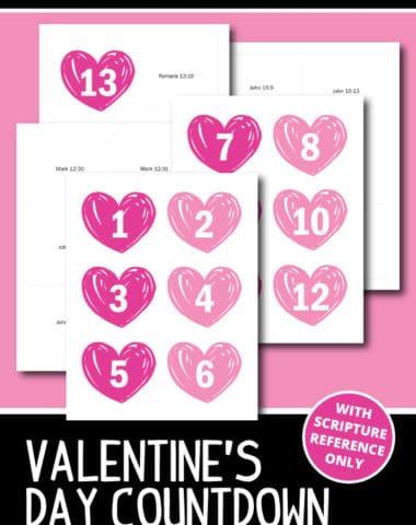 Valentine's Day Countdown Free Printable