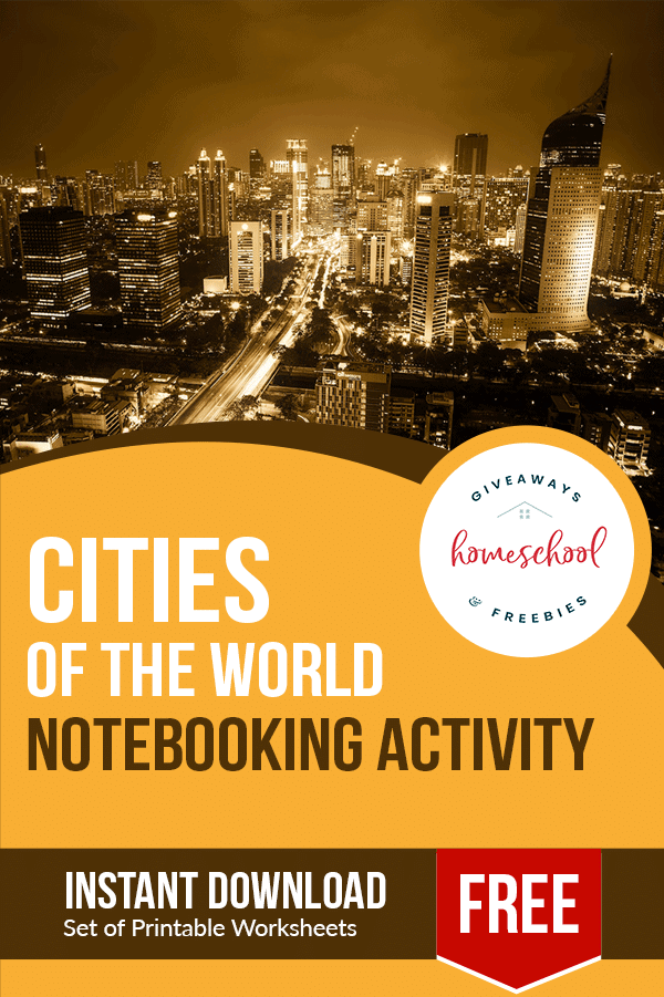 cities of the world notebooking activity
