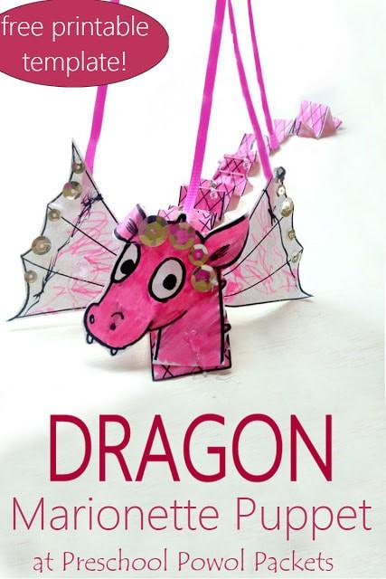 Sample of Dragon Marionette Puppet