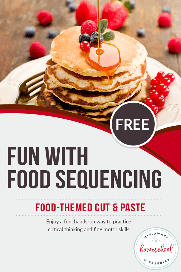 Food Sequencing Cut & Paste Activity