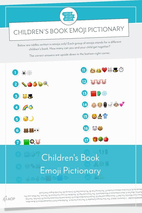 Children's Book Emoji Pictionary
