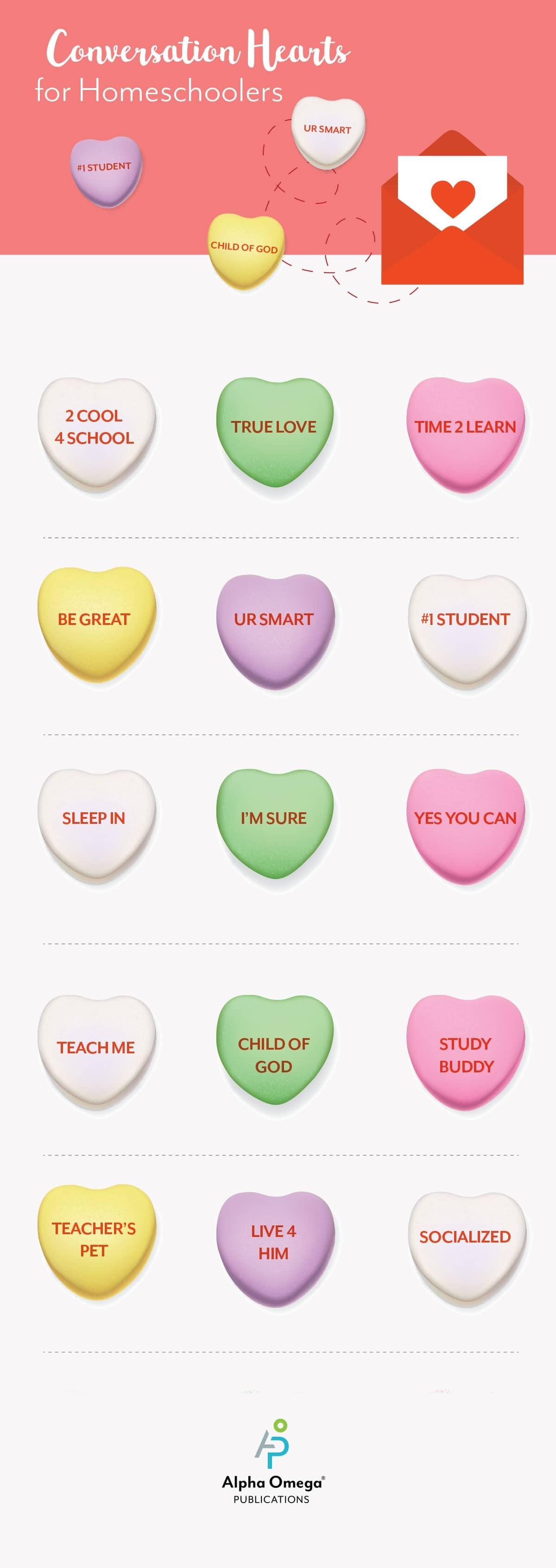 Conversation Hearts for Homeschoolers