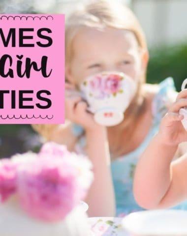Fun Themes for Little Girl Tea Parties. #homeschoolgiveaways #girlteaparty #teapartythemes #teapartyideas