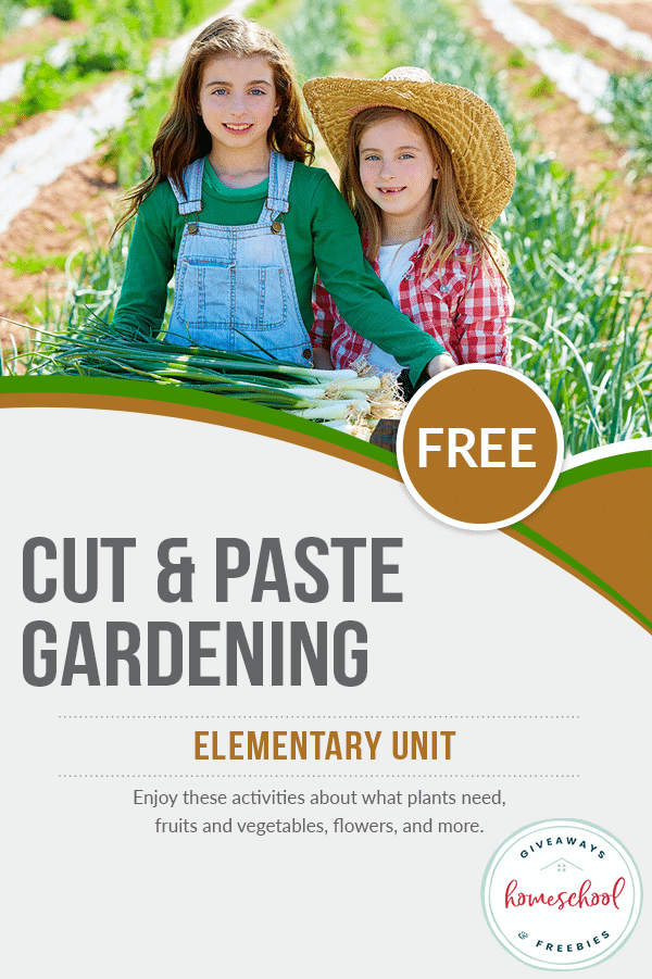 cut & paste gardening activity
