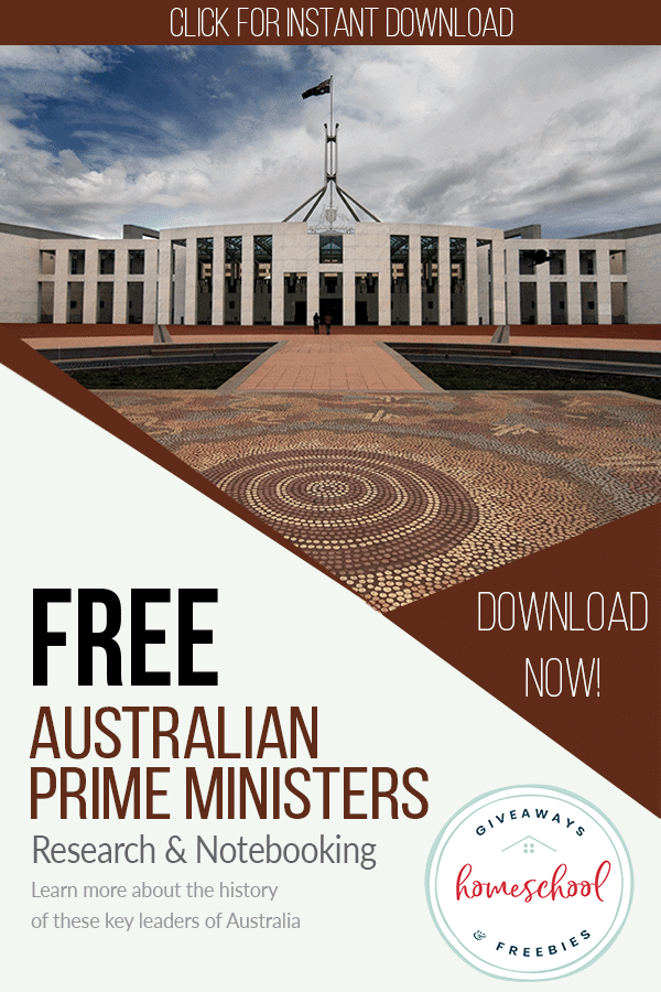 Free Australian Prime Ministers educational resources