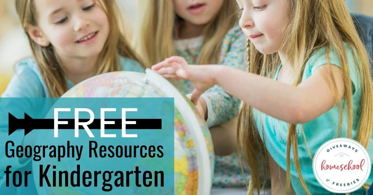 Free Geography Resources for Kindergarten. #homeschoolgiveaways #kindergartengeography #geographyforkindergarten #earlylearnergeography #geographyprintables