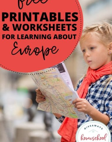 Free Printables and Worksheets for Learning About Europe. #homeschoolgiveaways #europeprintables #europeresources #europeunitstudy #allabouteurope