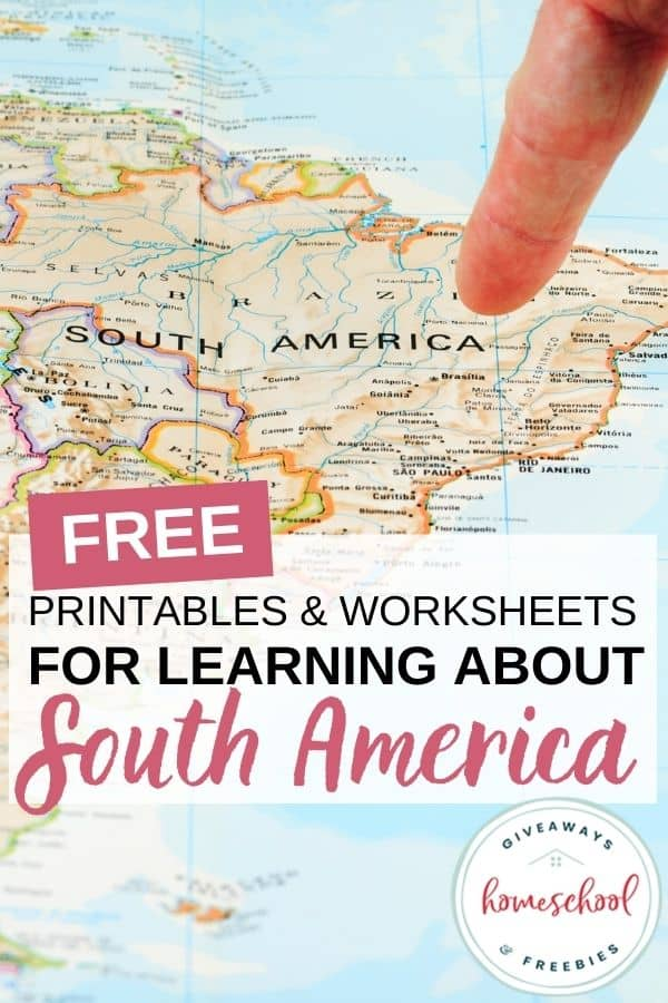 Free Printables and Worksheets for Learning About South America. #southamericaprintables #southamericaworksheets #southamericaresources