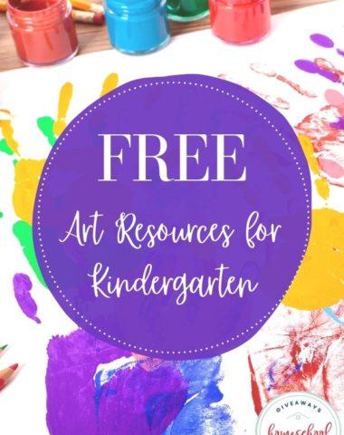 Free Art Resources for Kindergarten. #kindergartenartprintables #kindergartenartresources #artforkindergarten #homeschoolgiveaways