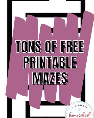 Printable Mazes for Kids of All Ages. #tonsofkidsmazes #printablemazes #middleschoolmazes #elementarymazes #preschoolmazes #highschoolmazes