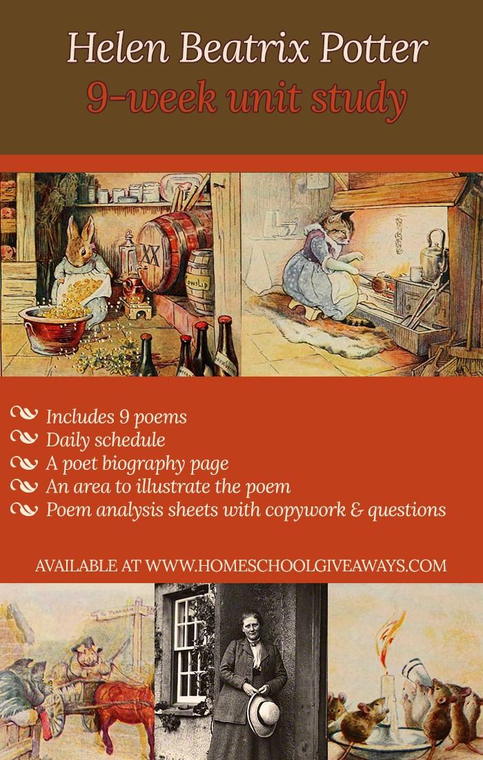 Free Beatrix Potter Unit Study Resources | The Gabester